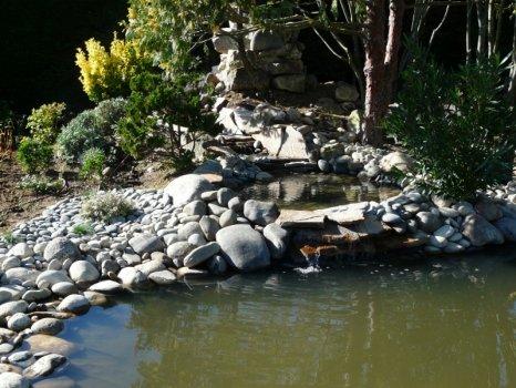 Bassin d 39 ornement bassin de baignade chez un particulier for Entretien des jardins chez les particuliers